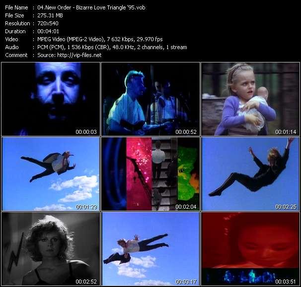 Screenshot of Music Video New Order - Bizarre Love Triangle '95