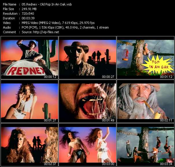 Screenshot of Music Video Rednex - Old Pop In An Oak