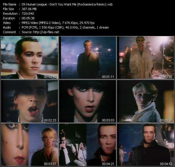 Screenshot of Music Video Human League - Don't You Want Me (Rockamerica Remix)