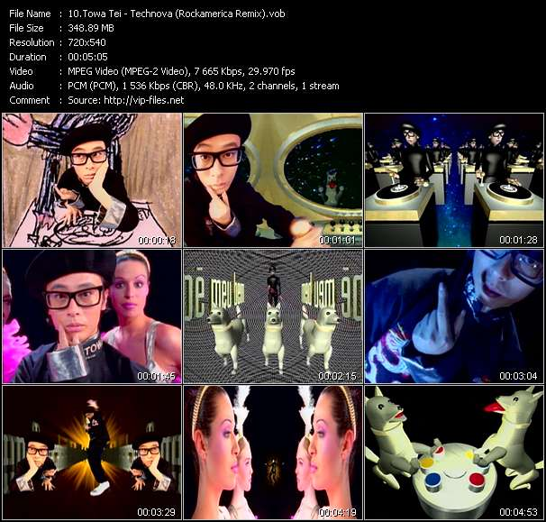 Screenshot of Music Video Towa Tei - Technova (Rockamerica Remix)