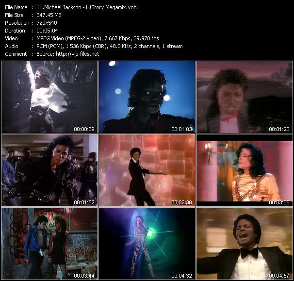 Screenshot of Music Video Michael Jackson - HIStory Megamix