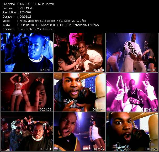 Screenshot of Music Video T.O.F. - Funk It Up