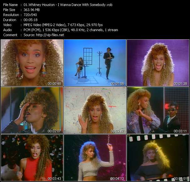 Screenshot of Music Video Whitney Houston - I Wanna Dance With Somebody