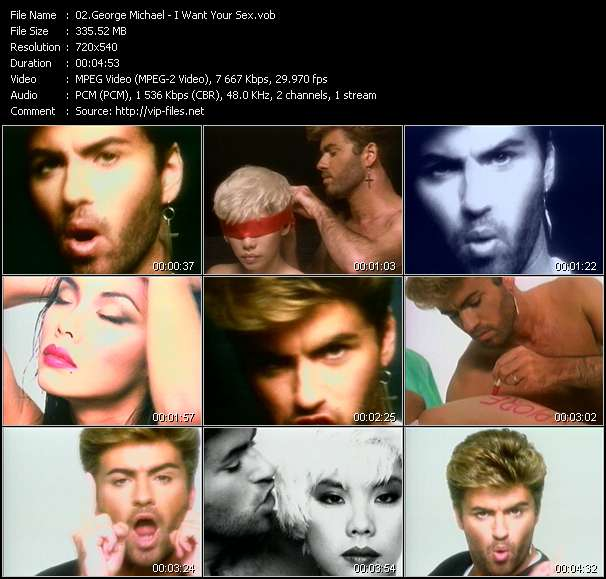Screenshot of Music Video George Michael - I Want Your Sex