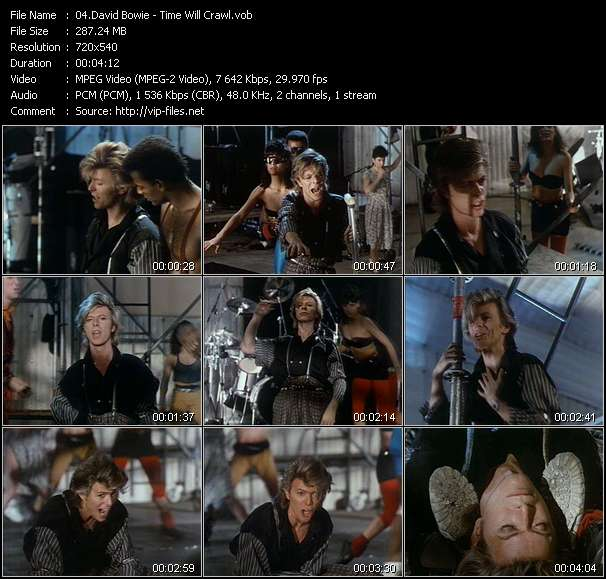 Screenshot of Music Video David Bowie - Time Will Crawl