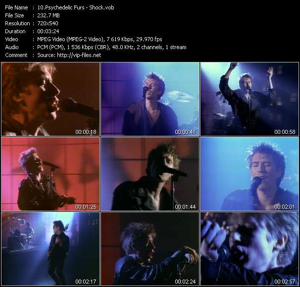Screenshot of Music Video Psychedelic Furs - Shock