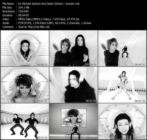 Screenshot of Music Video Michael Jackson And Janet Jackson - Scream