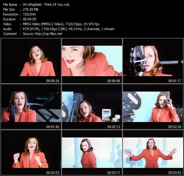 Screenshot of Music Video Whigfield - Think Of You