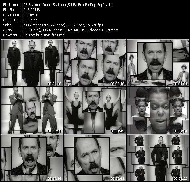 Screenshot of Music Video Scatman John - Scatman (Ski-Ba-Bop-Ba-Dop-Bop)