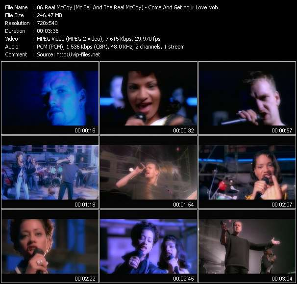 Screenshot of Music Video Real McCoy (Mc Sar And The Real McCoy) - Come And Get Your Love