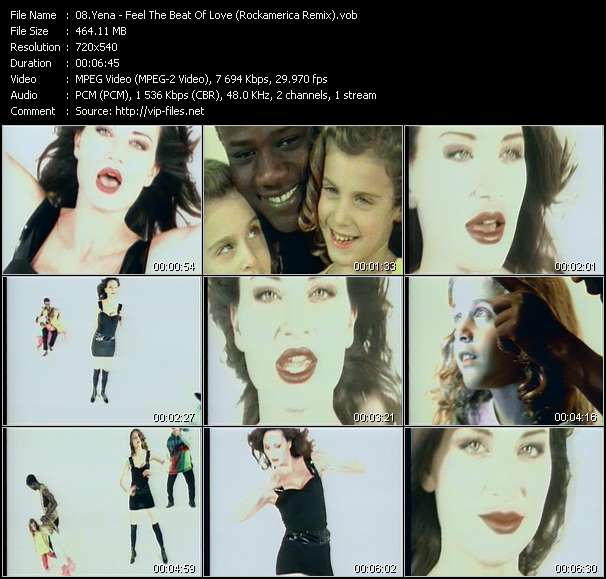 Screenshot of Music Video Yena - Feel The Beat Of Love (Rockamerica Remix)
