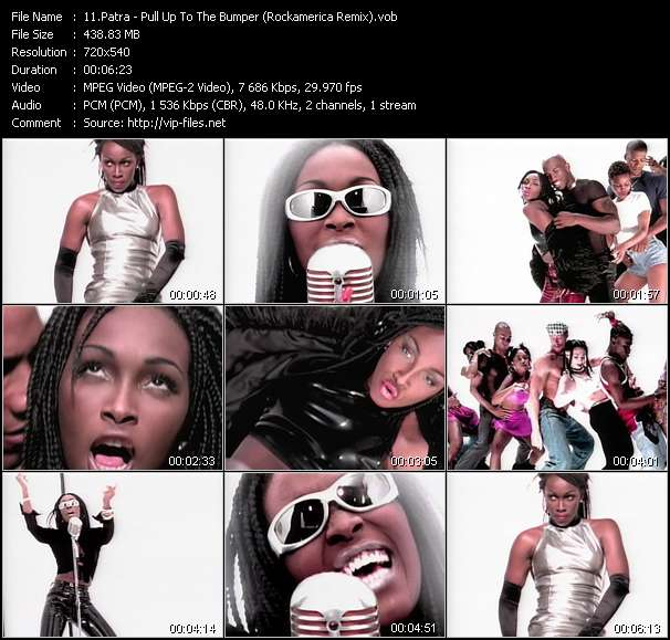 Screenshot of Music Video Patra - Pull Up To The Bumper (Rockamerica Remix)