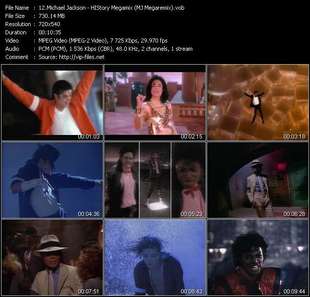 Screenshot of Music Video Michael Jackson - HIStory Megamix (MJ Megaremix)