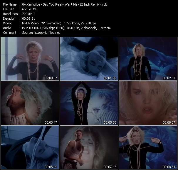 Screenshot of Music Video Kim Wilde - Say You Really Want Me (12 Inch Remix)