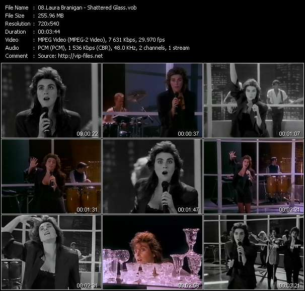 Screenshot of Music Video Laura Branigan - Shattered Glass