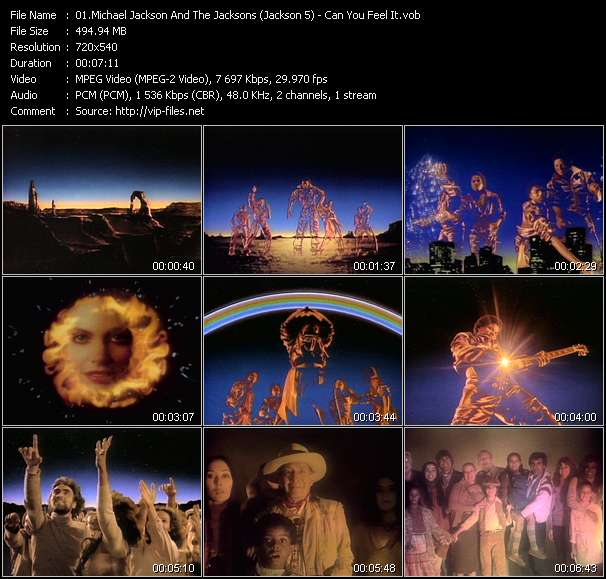 Screenshot of Music Video Michael Jackson And The Jacksons (Jackson 5) - Can You Feel It