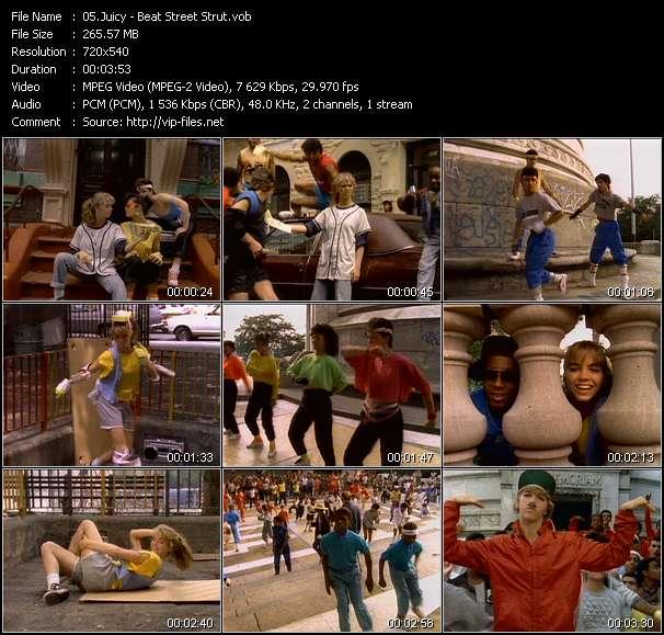 Screenshot of Music Video Juicy - Beat Street Strut