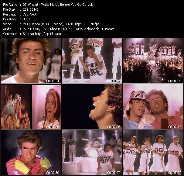 Screenshot of Music Video Wham! - Wake Me Up Before You Go-Go