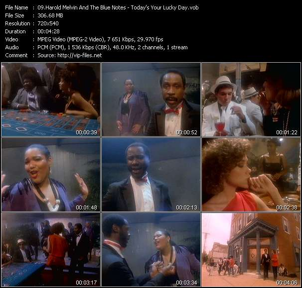 Screenshot of Music Video Harold Melvin And The Blue Notes - Today's Your Lucky Day