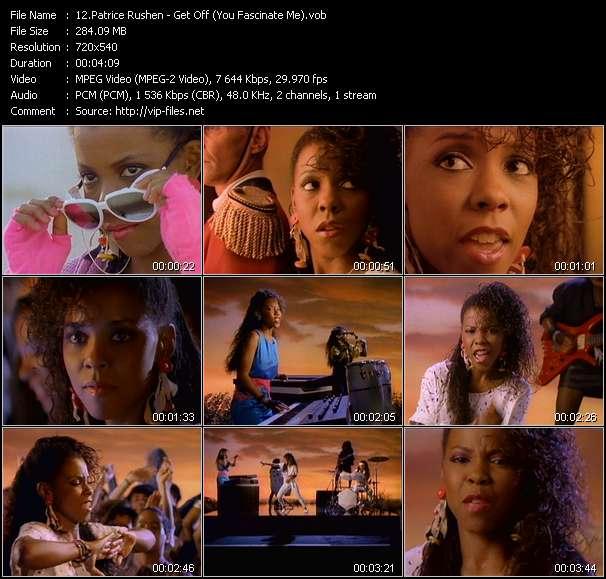 Screenshot of Music Video Patrice Rushen - Get Off (You Fascinate Me)