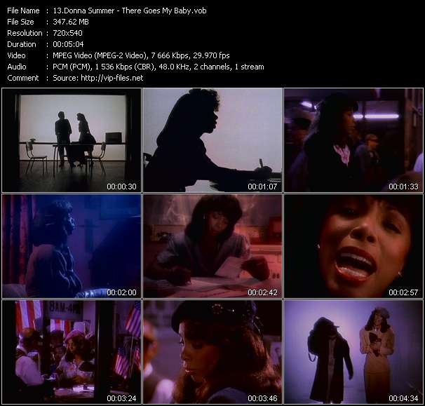 Screenshot of Music Video Donna Summer - There Goes My Baby
