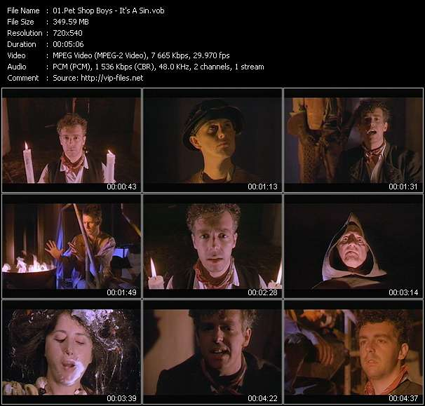 Screenshot of Music Video Pet Shop Boys - It's A Sin