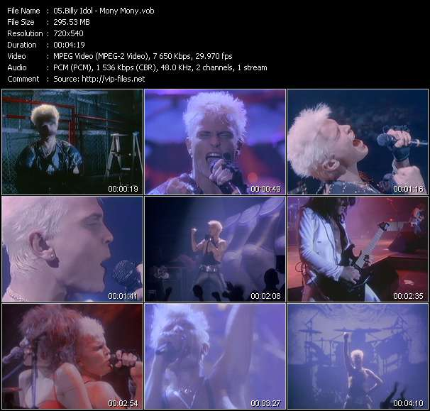 Screenshot of Music Video Billy Idol - Mony Mony