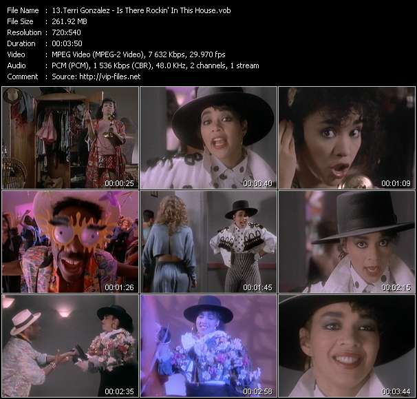 Screenshot of Music Video Terri Gonzalez - Is There Rockin' In This House