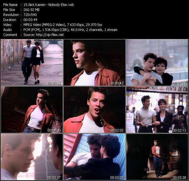 Screenshot of Music Video Nick Kamen - Nobody Else