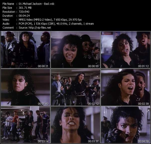 Screenshot of Music Video Michael Jackson - Bad