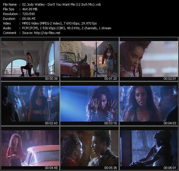 Screenshot of Music Video Jody Watley - Don't You Want Me (12 Inch Mix)