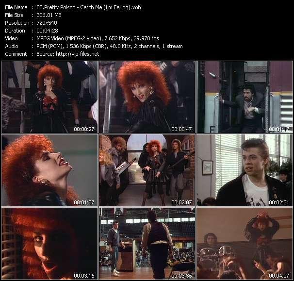 Screenshot of Music Video Pretty Poison - Catch Me (I'm Falling)