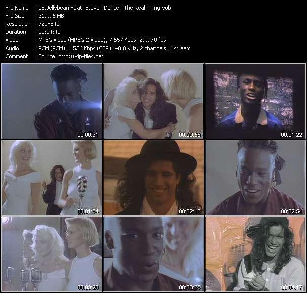 Screenshot of Music Video Jellybean Feat. Steven Dante - The Real Thing