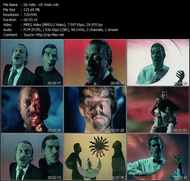 Screenshot of Music Video Yello - Oh Yeah