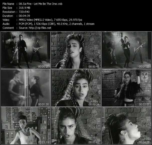 Screenshot of Music Video Sa-Fire - Let Me Be The One