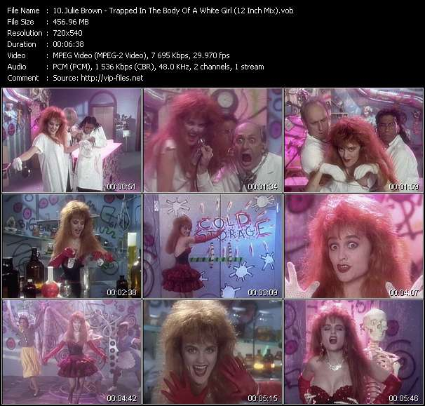 Screenshot of Music Video Julie Brown - Trapped In The Body Of A White Girl (12 Inch Mix)
