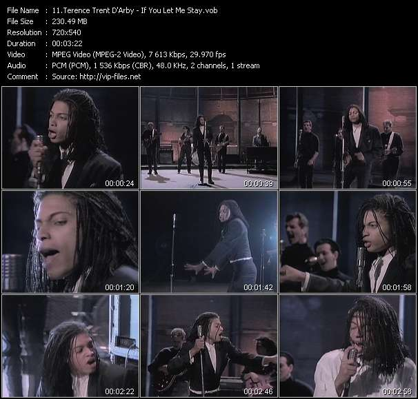 Screenshot of Music Video Terence Trent D'Arby - If You Let Me Stay