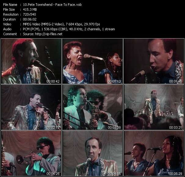 Pete Townshend video vob