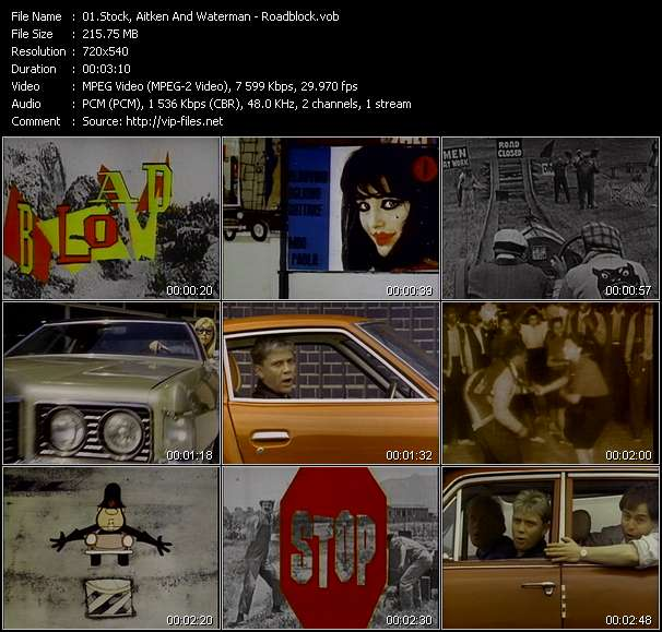 Screenshot of Music Video Stock, Aitken And Waterman - Roadblock