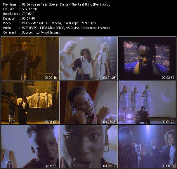 Screenshot of Music Video Jellybean Feat. Steven Dante - The Real Thing (Remix)