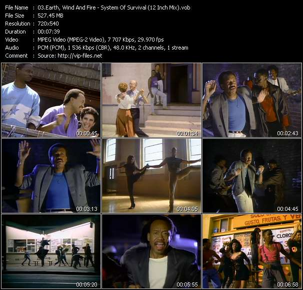Screenshot of Music Video Earth, Wind And Fire - System Of Survival (12 Inch Mix)