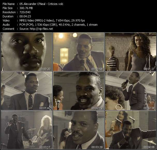 Screenshot of Music Video Alexander O'Neal - Criticize