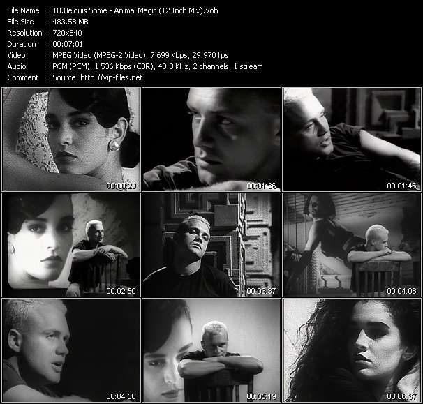 Screenshot of Music Video Belouis Some - Animal Magic (12 Inch Mix)