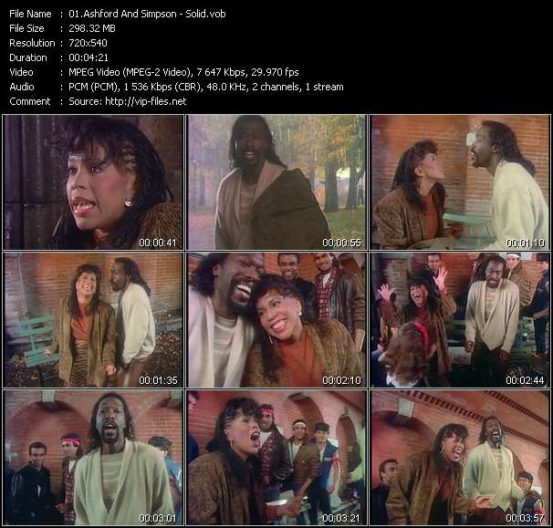 Screenshot of Music Video Ashford And Simpson - Solid