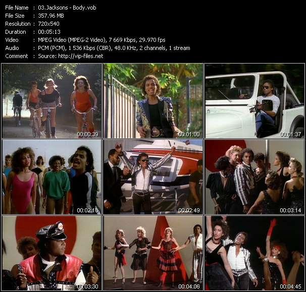 Screenshot of Music Video Jacksons - Body