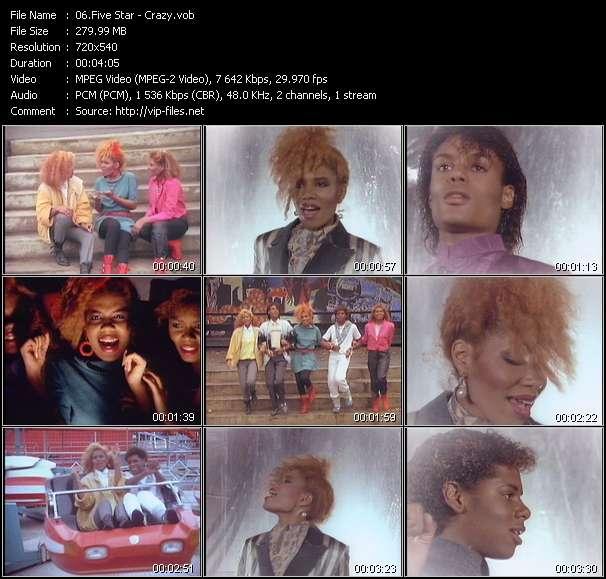 Screenshot of Music Video Five Star - Crazy