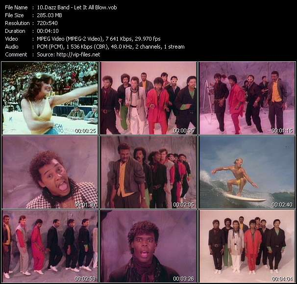 Screenshot of Music Video Dazz Band - Let It All Blow