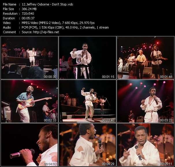 Screenshot of Music Video Jeffrey Osborne - Don't Stop