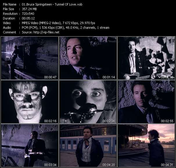 Screenshot of Music Video Bruce Springsteen - Tunnel Of Love