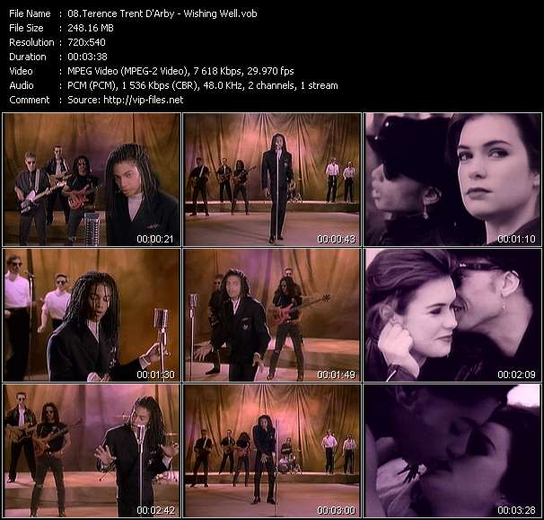 Screenshot of Music Video Terence Trent D'Arby - Wishing Well